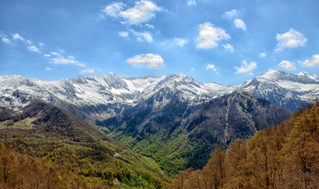 pyrenees: mountain landscape in the Pyrenees,  Ariege, France Stock Photo