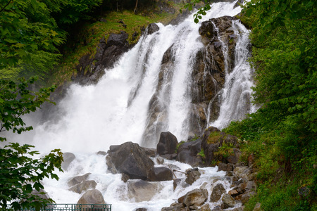 torrent: a torrent in the french Pyrenees Stock Photo