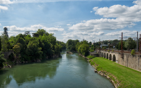 gave: river of Pau in the french pyrenees