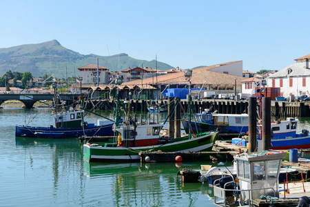 pays: Fishing boats in the port of Saint Jean de Luz in France