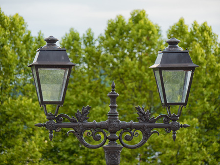 streetlights: a vintage streetlights in Pau city, France