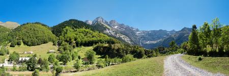 cirque: panoram of road to Cirque de Gavarnie, Hautes-Pyrenees, France