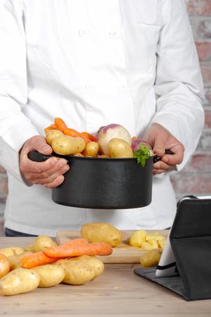Légumes pour la préparation de pot-au-feu Banque d'images