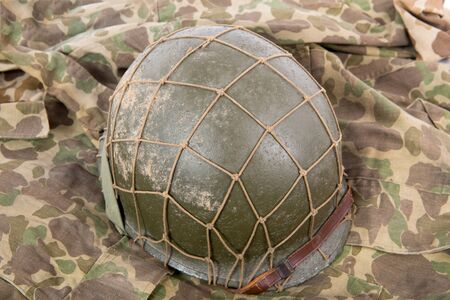 gi: a US military helmet of the World War Two