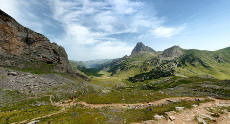 View of the Pic du Midi dOssau in the French Pyrenees