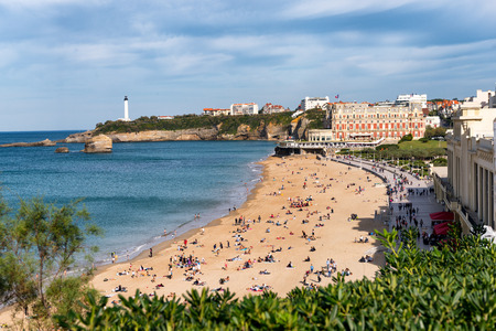 a view of Biarritz beach in France
