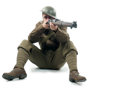 a WW1 British Army Soldier  from the Somme 1916. Stock Photo
