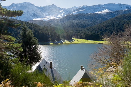 a lake of Payolle in the french Pyrenees
