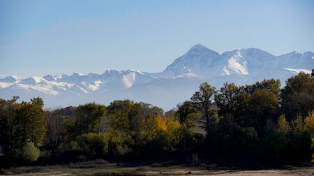 A beautiful view of french Pyrenees mountains