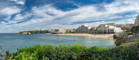 a panorama of Biarritz city in France Stock Photo