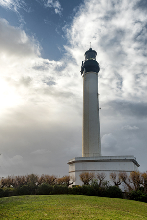 a lighthouse of Biarritz town in France Stock Photo
