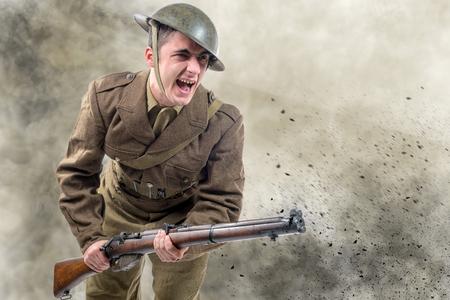 atak żołnierzy amerykańskich z I wojny światowej. 1917-18