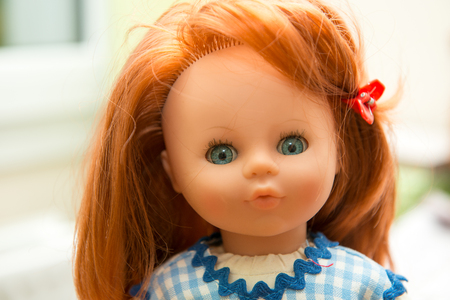 portrait of a beautiful doll toy