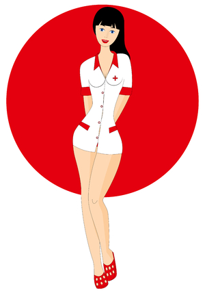 sexy young nurse isolated on the white background Archivio Fotografico