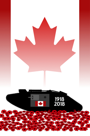 canadian tank, commemoration of the centenary of the great war 1918