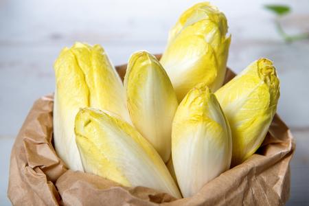 raw organic belgian or french endive  Stockfoto