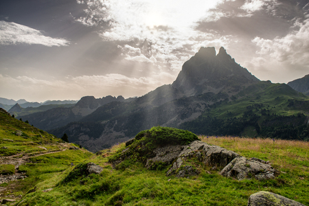 the peak of Ossau, french Pyrenees mountain