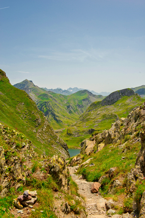 the mountain landscape in the French Pyrenees