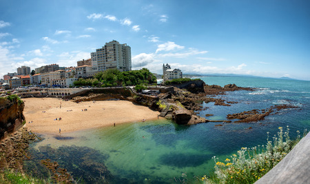 A view of Biarritz city by the Atlantic ocean, France