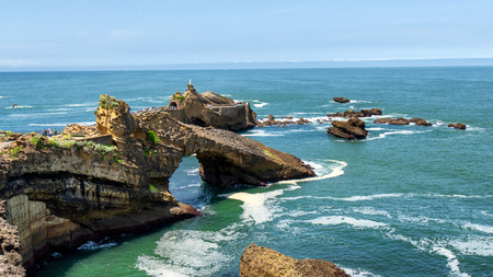 th rock of the Virgin, Biarritz city, France