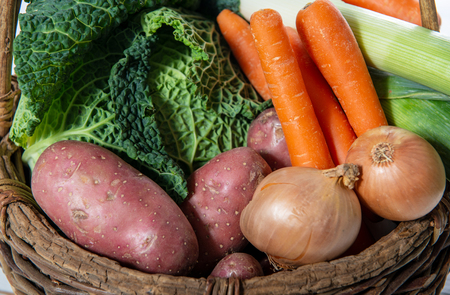 seasonal vegetables for preparation of french pot au feu