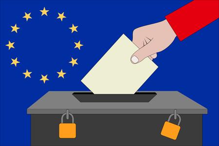 une urne pour les élections européennes