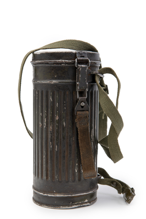 box for gas mask German troops Wehrmacht, Second World War on white background