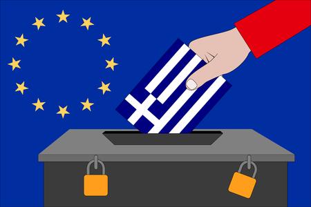 a Greece ballot box for the European elections