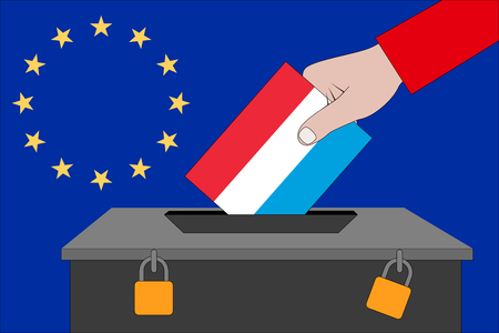 a Luxembourg ballot box for the European elections