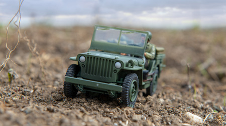 a scale model toy wartime 4wd outdoor