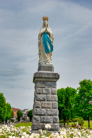 Virgin Of Lourdes, in High Pyrenees, France