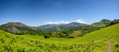 a panoramic of mountain landscape in summer. Pyrenees