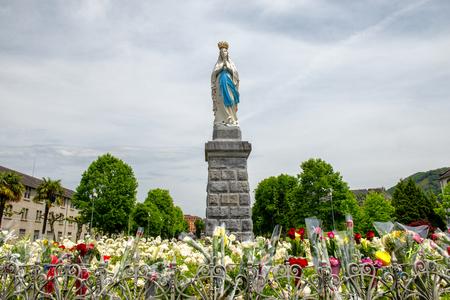 Virgin Of Lourdes, High Pyrenees, in France