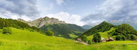 the French Alps mountain at Col de la Forclaz, France