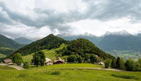 the French Alps mountain at Col de la Forclaz, France Reklamní fotografie