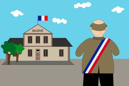 French municipal elections 2020. Illustration
