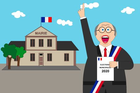 French municipal elections 2020. IllustrationText: Municipal election (in French) Standard-Bild - 138347732