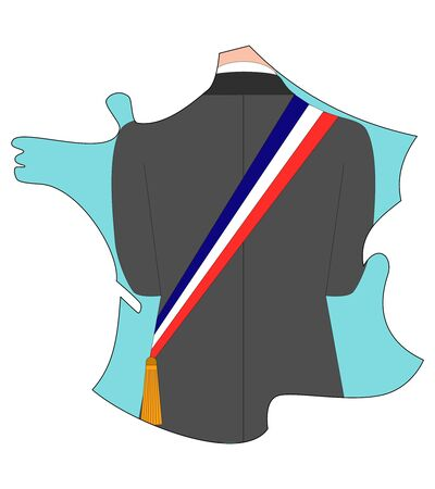a french municipal elections, vector, illustration