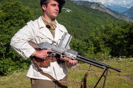 a French mountain infantry soldier during the Second World War Stock fotó - 150634648