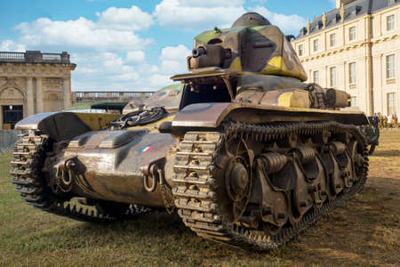 view of old military french tank