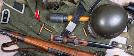 view of German equipment of World War II