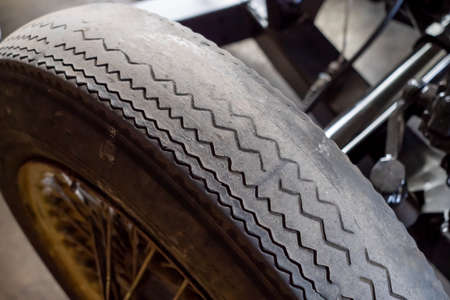 a view of very used tire