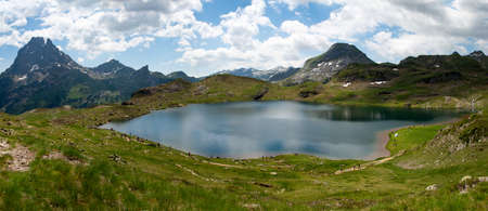 a Pic du Midi Ossau in the french Pyrenees mountains