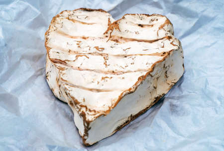 a traditional Neufchatel cheese, dairy product, France Foto de archivo