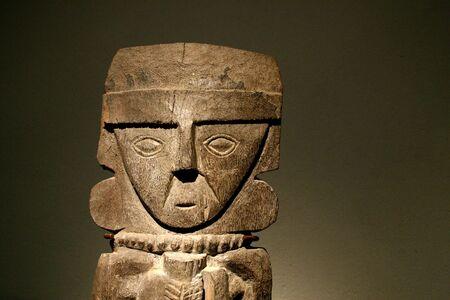 cuzco: Wooden Inca Statue in Cuzco, Peru