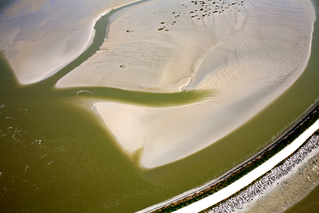 aerial view of the Somme Bay in France