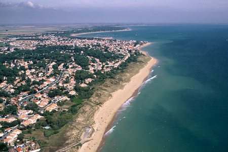 Aerial view of La Grière on the Vendà © coast Фото со стока - 93862259
