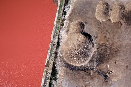 Aerial view of a waste disposal near La Tranche sur Mer Stock Photo
