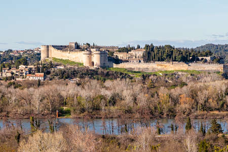 the city of Avignon, former papal city, in Provence Stock Photo