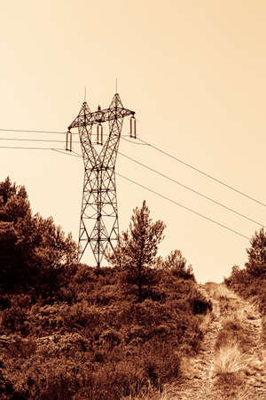 high voltage line on the Etoile massif, north of Marseille
